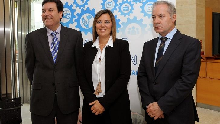 Consejera de agricultura Milagros Barros en la presentación del mapa de formación Agraría